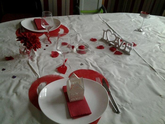 Decoration De Table Menu Rouge : Ébauche d� coration de table forum mariages
