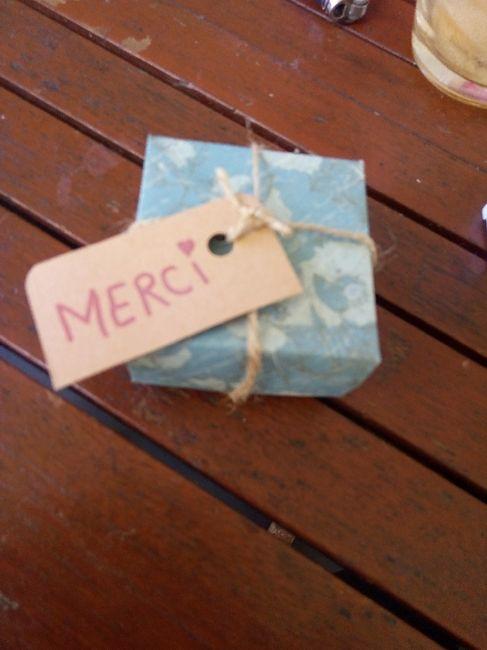 Cadeaux témoins homme et boîtes origamis - 1