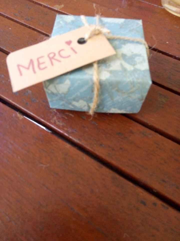 Cadeaux témoins homme et boîtes origamis - 2