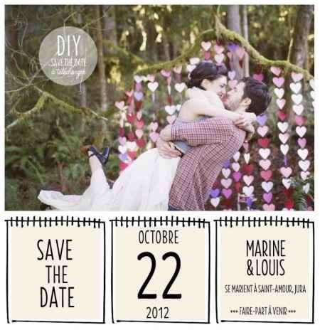 Idée save the date
