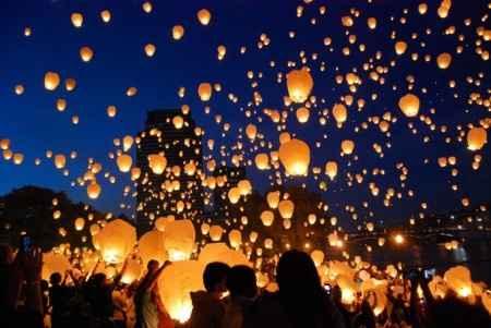 lâcher de lanternes célestes