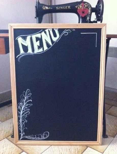 Tableau rétro menu