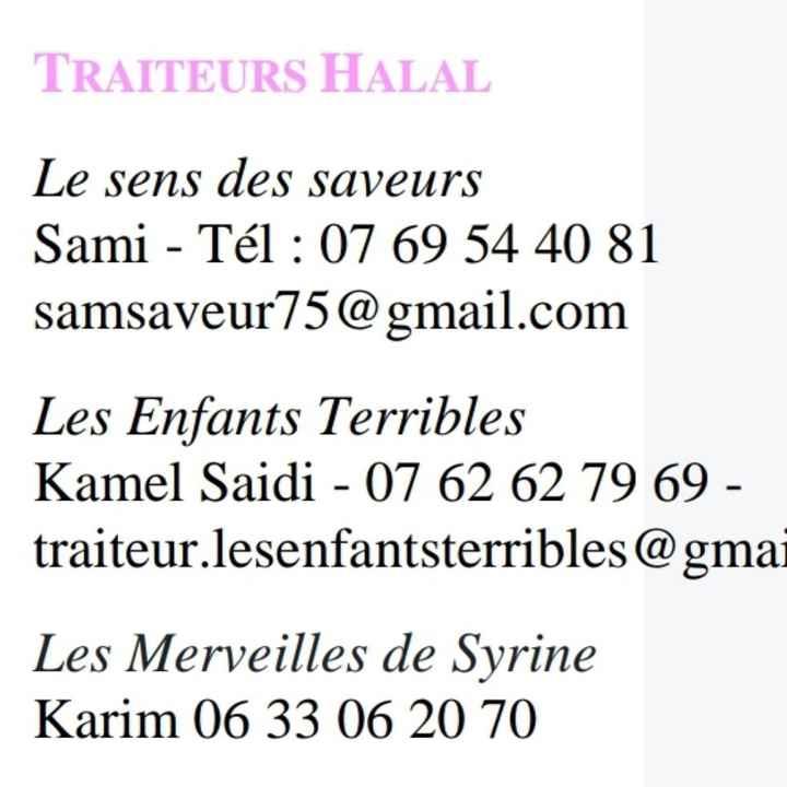 Traiteur halal - 1