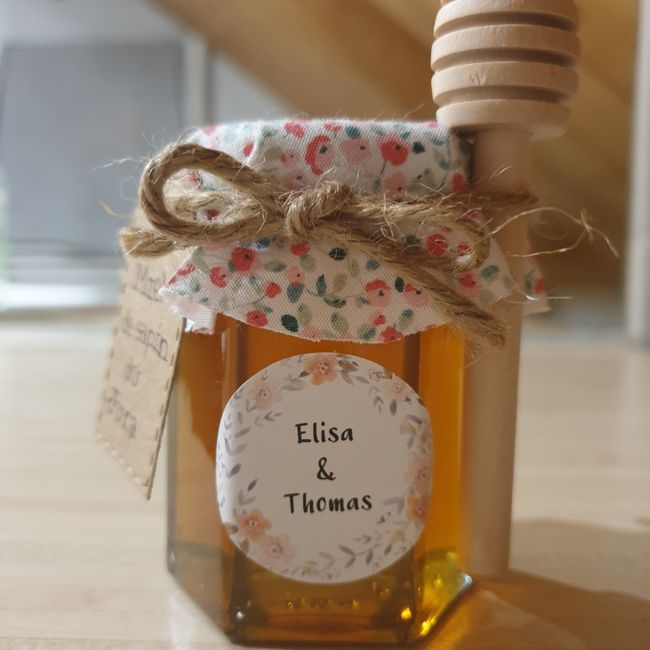 Cadeaux invités miel 2