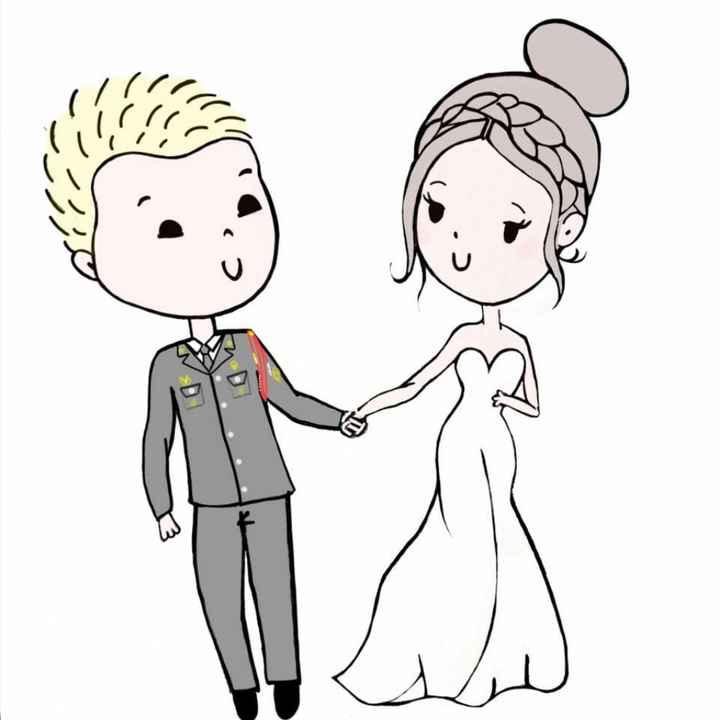 Dessin mariés - 1