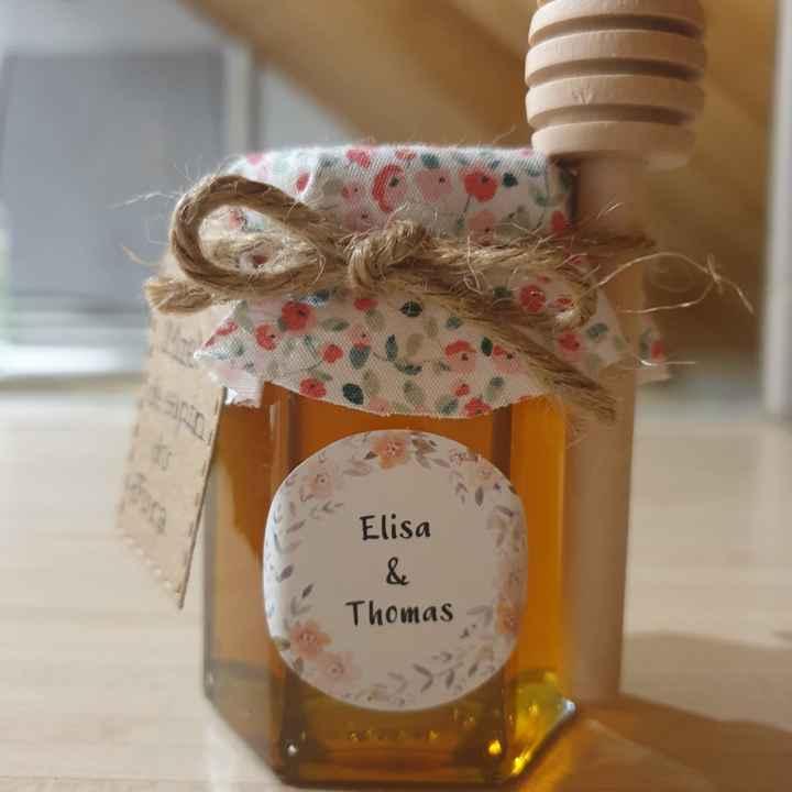 Cadeaux invités miel - 2