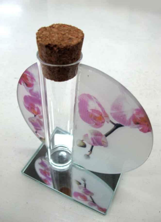 contenant en verre orchidée