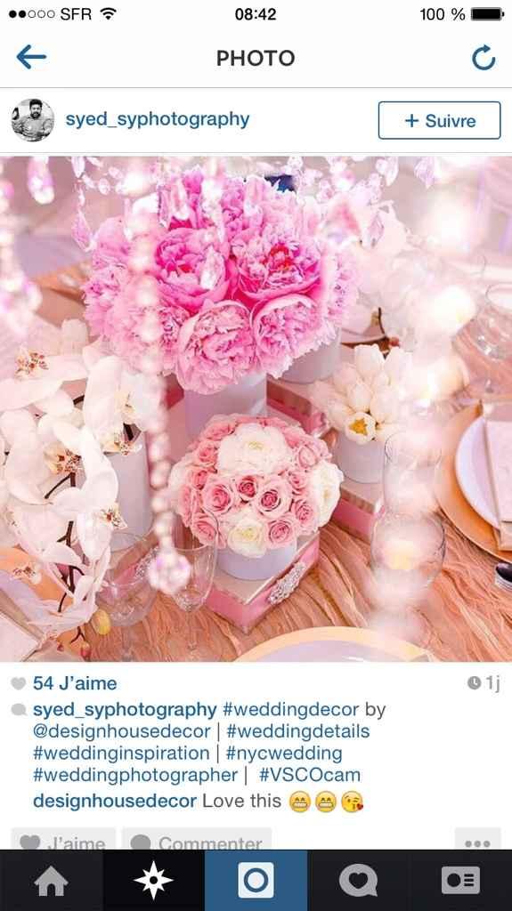Centre de table fleurs  - 1