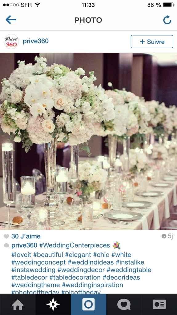 Centre de table fleurs  - 2