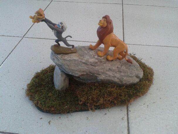 roi lion centre de table
