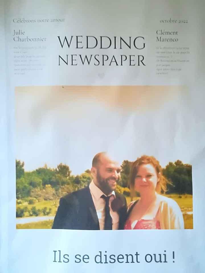 Trop contente j'ai terminé ma gazette de mariage - 1