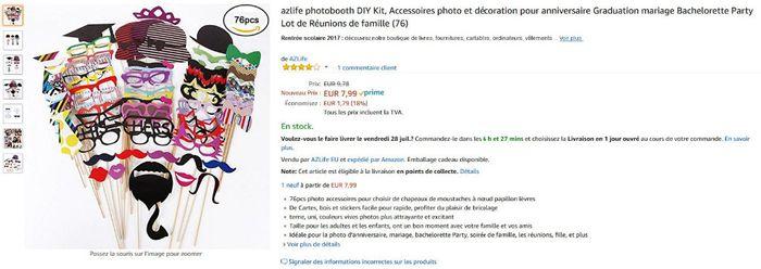 Accessoires Photobooth Amazon