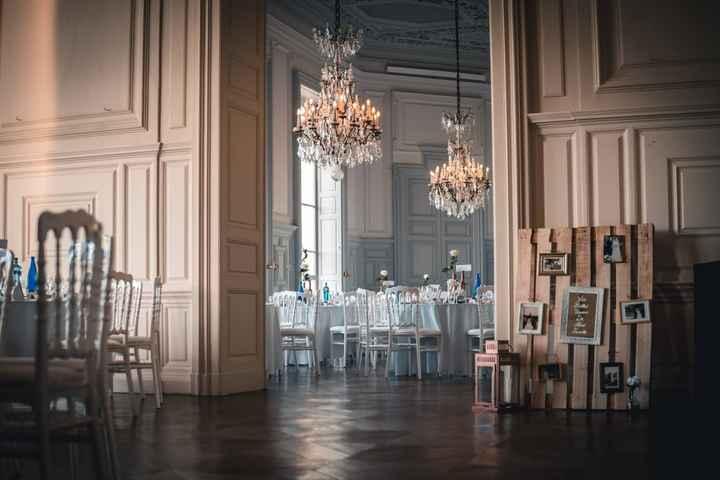 Nous voyons ici l'ouverture entre les deux salles, ainsi que la palette souvenirs des belles unions