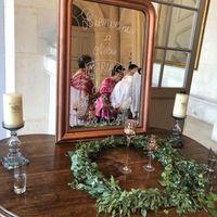 Dans le Hall d'entrée nous avions fait un miroir de Bienvenue