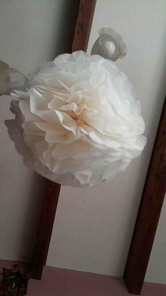 Rond de serviette et suspension florale - 4