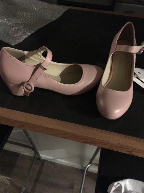 Chaussures rose poudré/ vieux rose. - 1