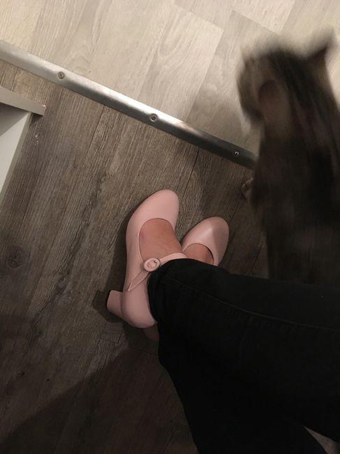 Chaussures rose poudré/ vieux rose. - 2