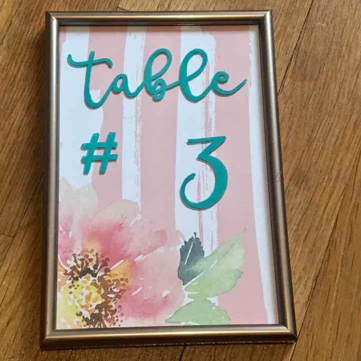 Déco numéros de table - 1