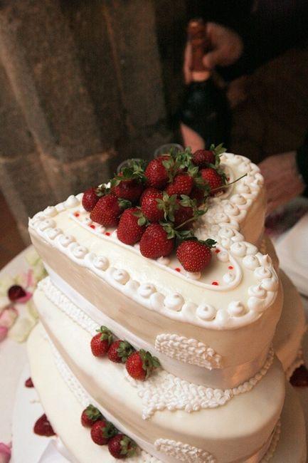 fraisier  wedding cake