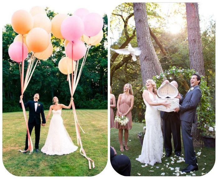 quest ce que vous trouvez le plus amusant symbolique ou romantique en bref que prfrez vous entre un lcher de ballons et un lcher de colombes - Lacher De Ballon Mariage