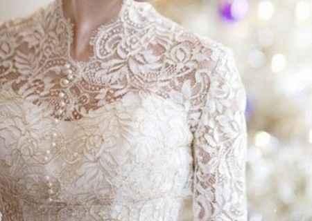 Robe de mariée à boutons