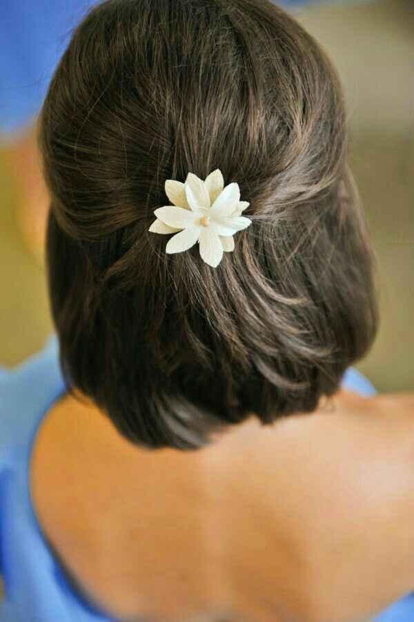 Coiffure sur cheveux court - 1