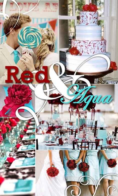 Red & aqua
