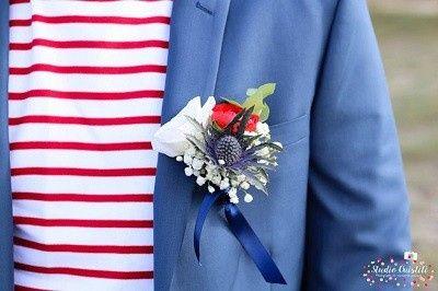 Mariage inspiration Bleu/blanc/rouge 5