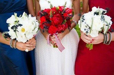 Mariage inspiration Bleu/blanc/rouge 7