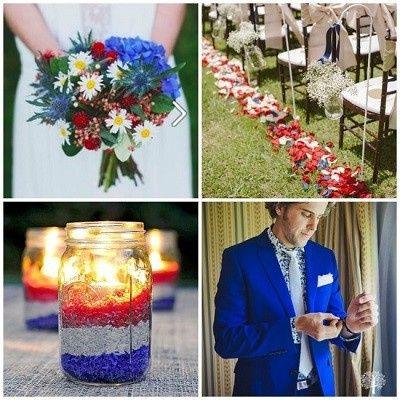Mariage inspiration Bleu/blanc/rouge 22