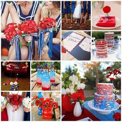 Mariage inspiration Bleu/blanc/rouge 23