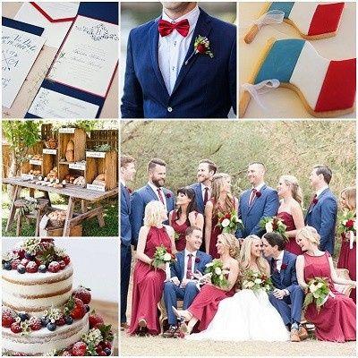 Mariage inspiration Bleu/blanc/rouge 24