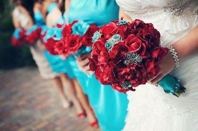 Mariage inspiration Bleu/blanc/rouge 28
