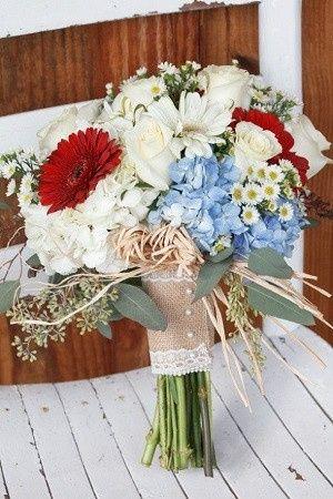 Mariage inspiration Bleu/blanc/rouge 32