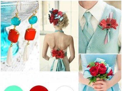 Mariage inspiration Bleu/blanc/rouge 33