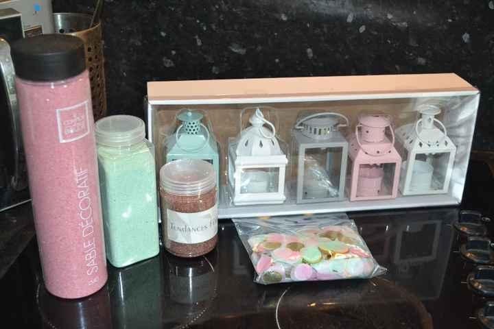 Sable pour le rituel de notre CL (dans nos couleurs) - Confettis pour les tables enfants