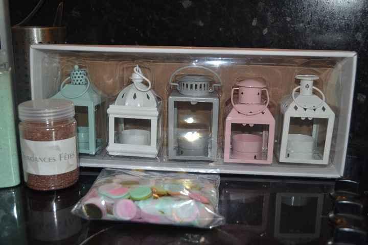 Mini-lanternes qui seront disposées sur les tables enfants, avec des bougies LED