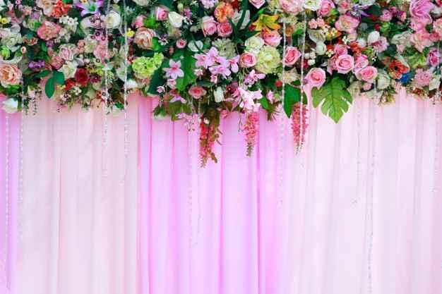 Rideaux fleurs