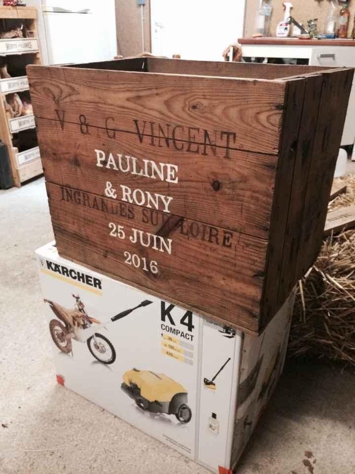 Déco cagette à vin personnalisée ! - 1