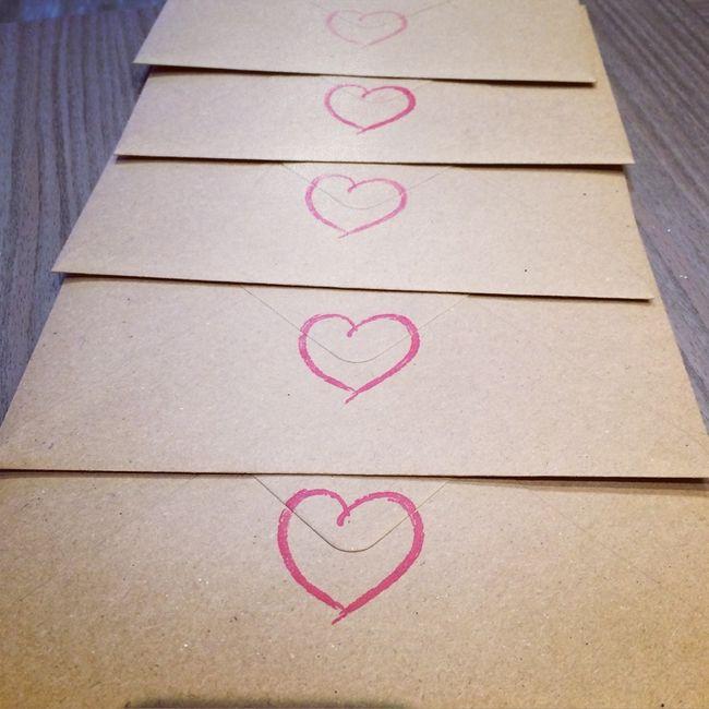 Résultats tampon arrière enveloppes faire parts - 1