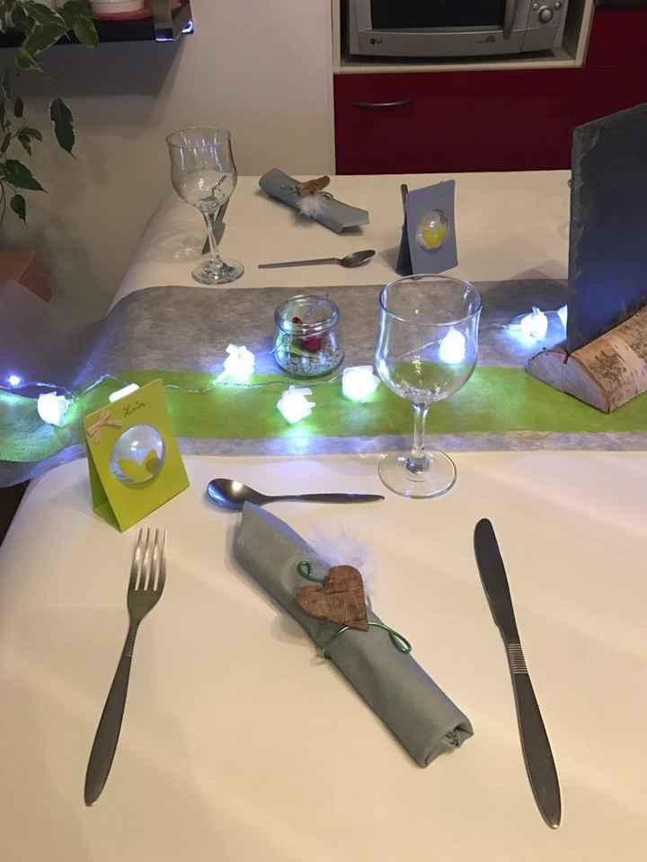 Decoration table rectangulaire - 2