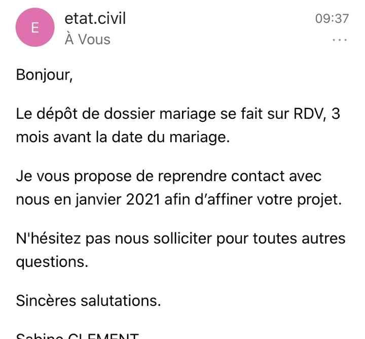 Dossier de mariage - Confinement - 1