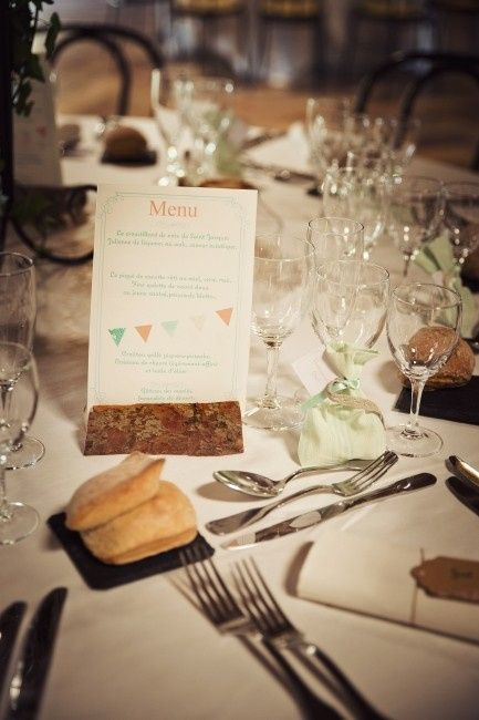 déco de table et menu