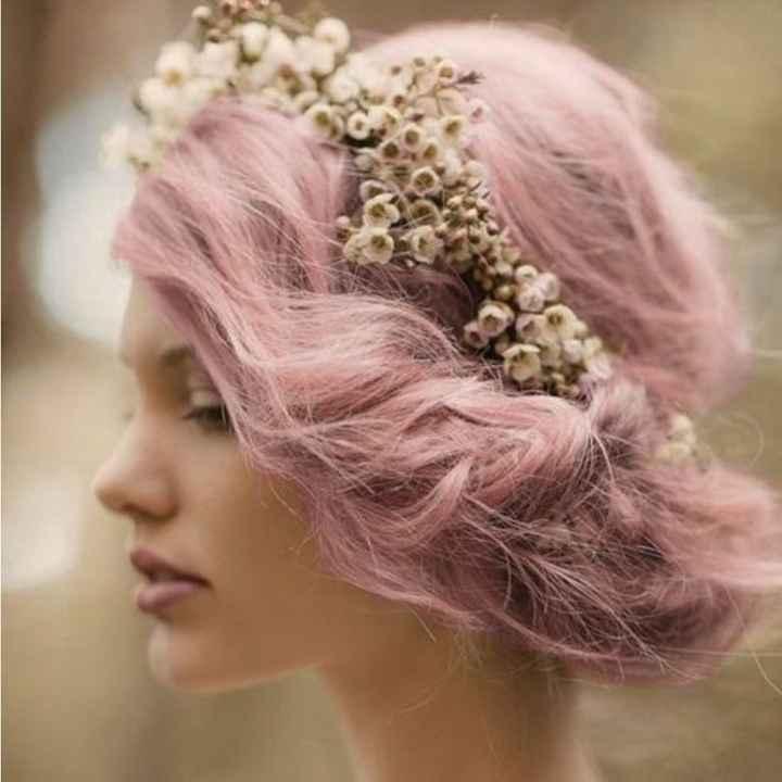 Voici quelques coiffures de mariées aux cheveux colorés - 3