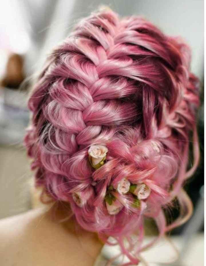 Voici quelques coiffures de mariées aux cheveux colorés - 4
