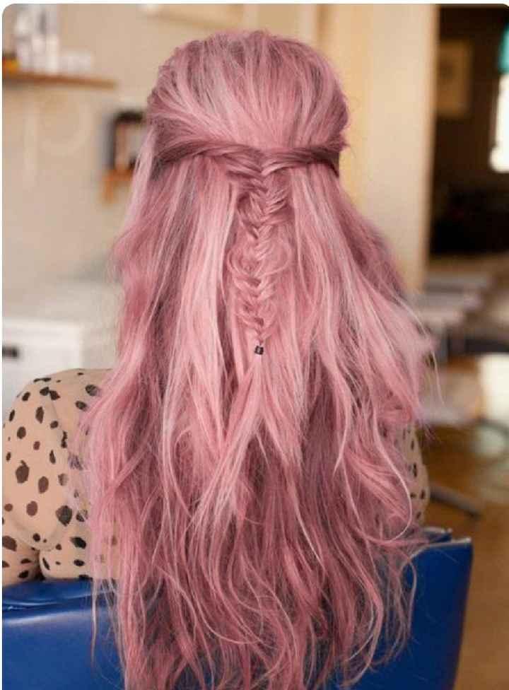 Voici quelques coiffures de mariées aux cheveux colorés - 5