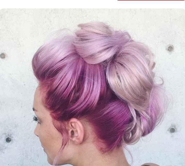 Voici quelques coiffures de mariées aux cheveux colorés - 7