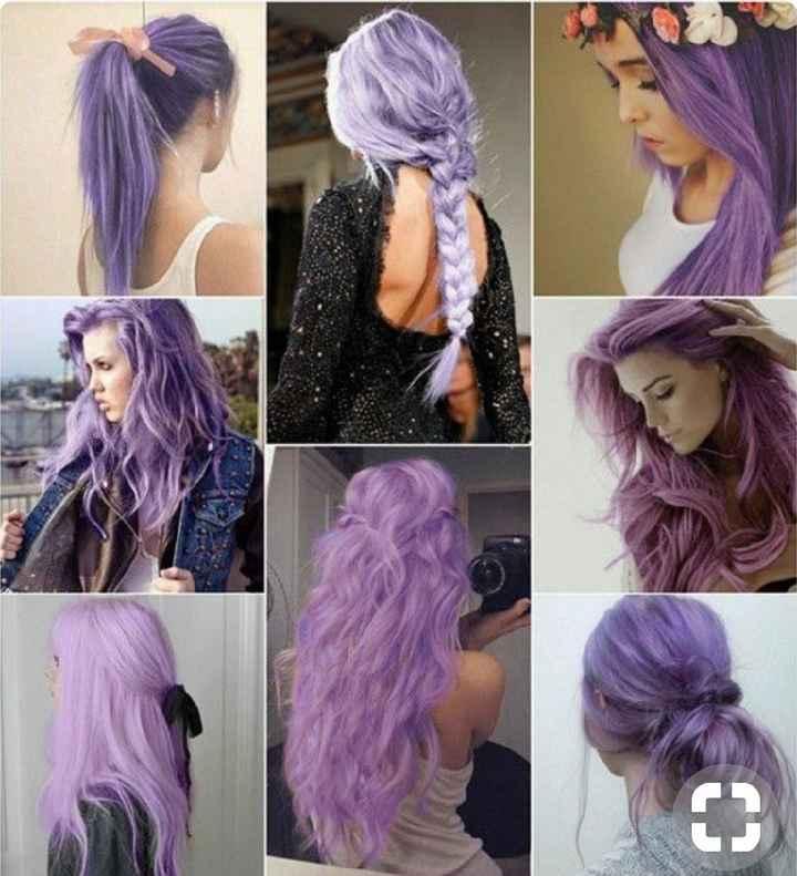 Voici quelques coiffures de mariées aux cheveux colorés - 14