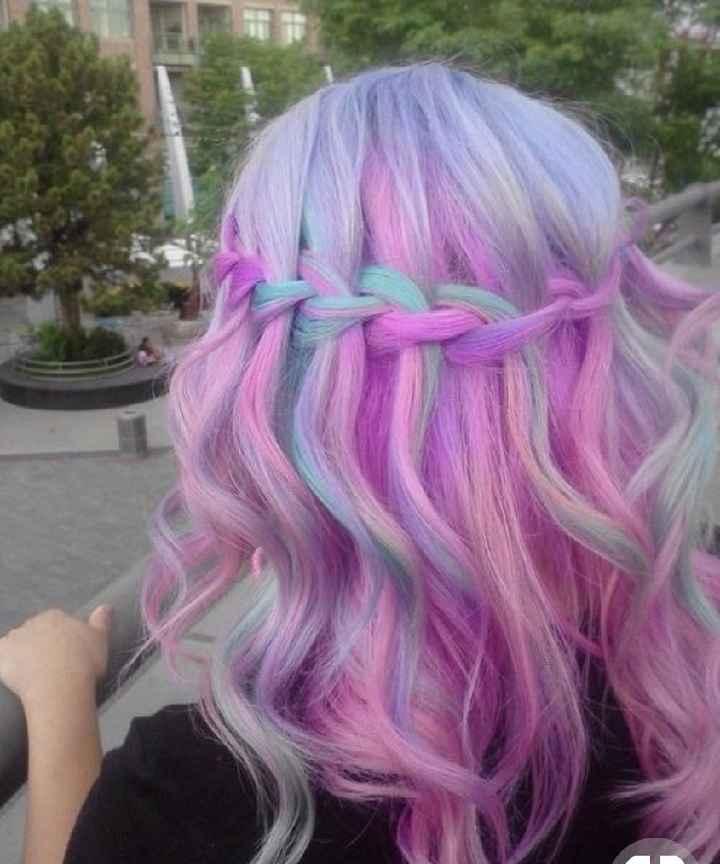 Voici quelques coiffures de mariées aux cheveux colorés - 15