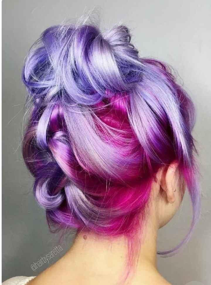 Voici quelques coiffures de mariées aux cheveux colorés - 17